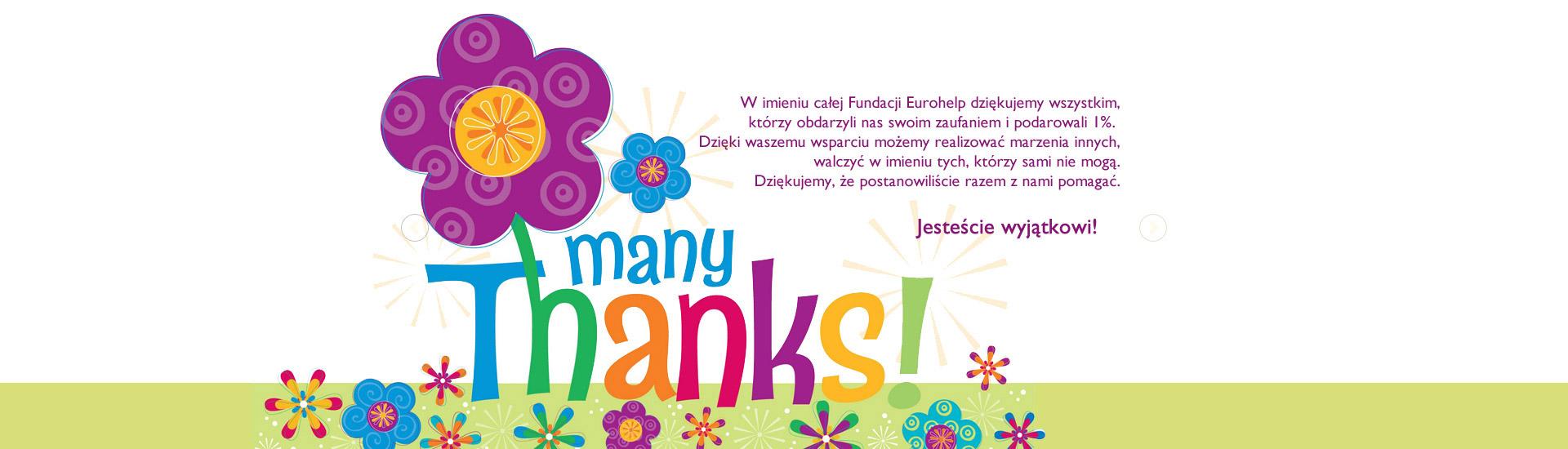 Dziękujemy - many thanks!