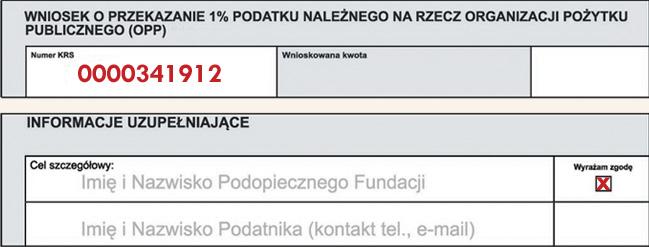 Wniosek o przekazanie 1%
